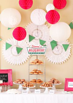 how cute ~ a personalized krispy kreme party!!!!