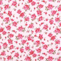 Roses Cotton Pink 112cm