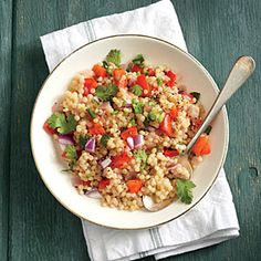 Red Pepper Couscous | MyRecipes.com