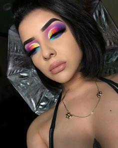 eye makeup looks blue eyes Makeup Eye Looks, Eye Makeup Art, Colorful Eye Makeup, Kiss Makeup, Glam Makeup, Pretty Makeup, Eyeshadow Makeup, Eyeshadows, Makeup Trends