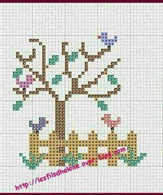 Small Cross Stitch, Cross Stitch Tree, Cross Stitch Heart, Cross Stitch Animals, Counted Cross Stitch Patterns, Cross Stitch Embroidery, Crochet Cross, Plastic Canvas Patterns, Cross Stitching