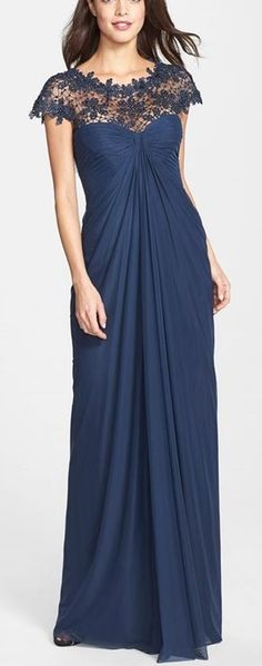 yoke buy dresses drape fpx layer posn drapes lace tif gown adrianna ball s bloomingdale papell anchor inset size