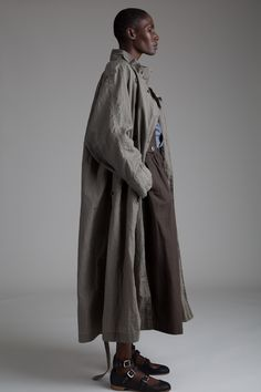 Matsuda Trench Coat Issey Miyake Plantation Skirt and Jacket Set Designer Vintage Clothing Minimal Fashion