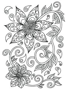 Ethnic mehndi flowers elements by ssstocker on Free Adult Coloring Pages, Fairy Coloring, Flower Coloring Pages, Mandala Coloring Pages, Coloring Book Pages, Coloring Sheets, Flower Tattoo Back, Flower Tattoo Shoulder, Henna Drawings