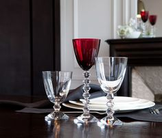 VÉGA SMALL GLASS, CLEAR, original Baccarat Stemware