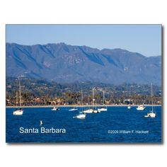 Santa Barbara Sailboats Products at the Cheshire Cat Photo Store on Zazzle! http://www.zazzle.com/santa_barbara_sailboats_products_california_postcard-239317565703572698