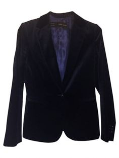 Blazer bleu Zara / Bleu, bleu marine, bleu turquoise / 38 (M, T2) EU / Daim / Automne - Hiver