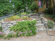 New concrete stairs makeover retaining walls Ideas Patio Stairs, Garden Stairs, Terrace Garden, Terrace Ideas, Garden Paths, Garden Ideas, Retaining Wall Steps, Concrete Retaining Walls, Concrete Stairs