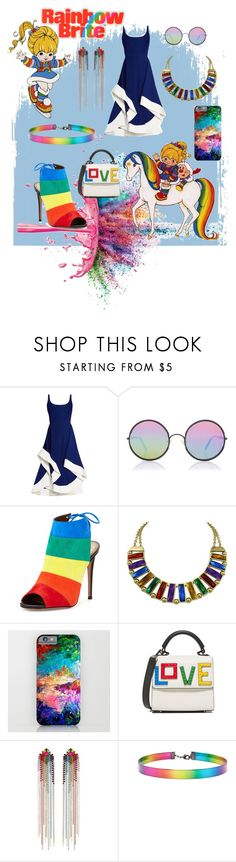 """""""Rainbow Brite"""" by sabrepinkt ❤ liked on Polyvore featuring Givenchy, Jeffrey Campbell, Esteban Cortazar, Sunday Somewhere, Aquazzura, Les Petits Joueurs, Mimi Wade and Forever 21"""