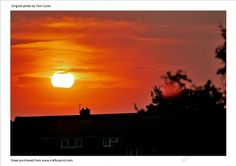 Sunset Glow by Tom Curtis  Picture was taken in South Yorkshire England.An original photo supplied as a JPEG 300dpi.