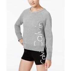 Calvin Klein Performance Ribbed Logo Sweatshirt
