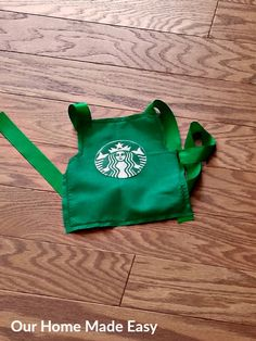 Make your own Starbucks Halloween Costume! This step by step tutorial includes picture sof the steps and materials needed for the project! Includes steps for making a coordinating Barista Apron for a sibling! Click to see how to make a your kid's coolest costume!