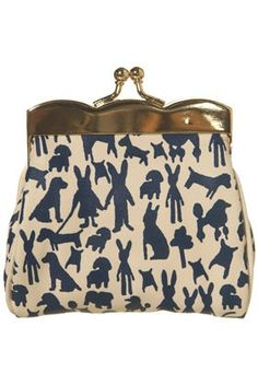 RABBIT PRINT SCALLOP PURSE, from topshop,com