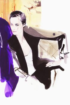 Super British Model Yasmin Le Bon by David Downton Yasmin Le Bon, David Downton, Line Drawing, Drawing Ideas, Drawing Tips, Designs To Draw, Illustrators, Pop Art, Illustration Art