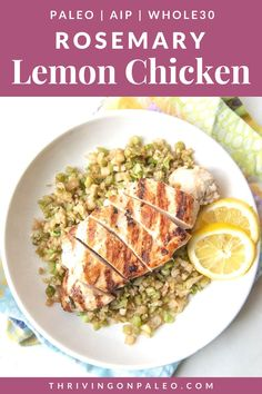 A quick dump-and-go freezer meal or a delicious meal to eat tonight, this flavorful chicken recipe is a surefire hit and easy to make! Paleo, Whole30, and AIP friendly Pork Recipes, Paleo Recipes, Asian Recipes, Delicious Recipes, Healthy Dinner Recipes, Real Food Recipes, Free Recipes, Chicken Recipes, Lemon Rosemary Chicken
