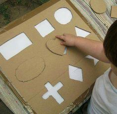 Tipss und Vorlagen: Paper with crafts ideas at home Toddler Learning Activities, Montessori Activities, Infant Activities, Kindergarten Activities, Kids Learning, Activities For Kids, Crafts For Kids, Montessori Education, Childhood Education