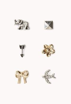 Safari Stud Set | FOREVER21 - 1062112401 (don't come in pairs, good for cartilage piercing)