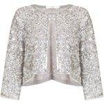 John Lewis Sequin Jacket, Silver