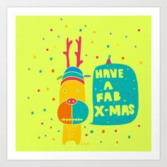 Rudolph2 Art Print by PINT GRAPHICS - $17.00