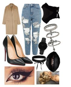 """""""Untitled #1317"""" by hannahgage1 on Polyvore featuring Givenchy, Christian Louboutin, Topshop, Boohoo, CLUSE and Miss Selfridge"""