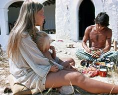 Joni visiting artist Salvador Maron in Greece in the early 70s