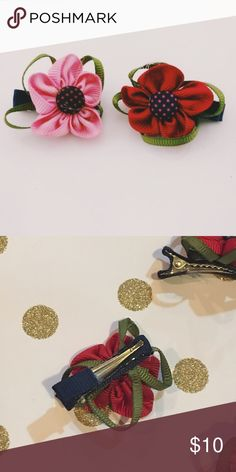 Polka Dots Soft Bows 2 polka dots soft bows one pink and one red. So cute to accessorize any outfit T&J Designs Accessories Hair Accessories