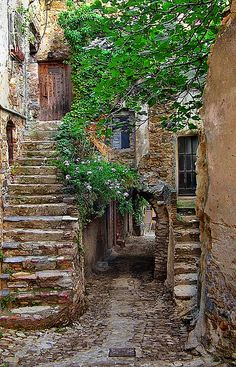 Alley in Bussana Vecchia, Liguria, Italy by h_roach on Flickr.