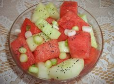 Watermelon and Seedless Cucumber Salad Recipe | Just A Pinch Recipes