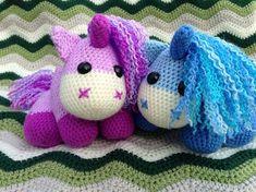 Materials: Medium-thick acrylic yarn - (pink, red and milky) Hooks No. Crochet Horse, Crochet Unicorn, Crochet Art, Unicorn Birthday Parties, Amigurumi Doll, Softies, Cool Gifts, Little Pony, Handmade Crafts