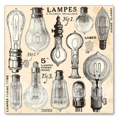 Canvas print LAMPS by Sticky!!!