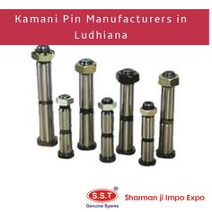 Sharman Ji Impo Expo is a Ludhiana, Punjab based manufacturer and supplier in Kamani Pin. These Kamani pins are used mostly in the automobiles industry. Stainless Steel Washers, Tractor Parts, Automobile Industry, Motor Parts, Range, Top, Cookers, Crop Shirt, Shirts