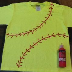 Daughter softball practice shirt could do baseball too! Softball Party, Softball Crafts, Softball Shirts, Girls Softball, Team T Shirts, Baseball Mom, Softball Stuff, Tee Shirts, Softball Cheers