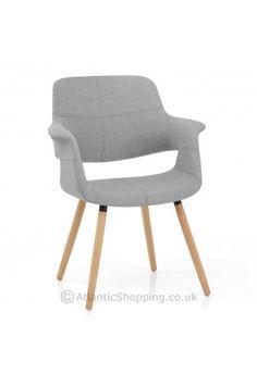 Finley Eames Style Chair Oak & Grey £80