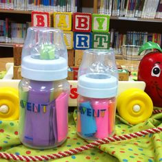 Message in a Bottle-- write a message for new mom and baby!!