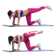 7 Exercises to Tone Your Butt That Aren't Squats - Body Hiit Workout Toning Workouts, Butt Workout, At Home Workouts, Workout Fitness, Fitness Motivation, Glute Kickbacks, Gluteal Muscles, Workout For Beginners, Excercise