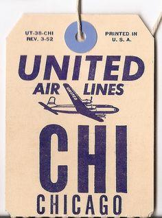 vintage travel tag