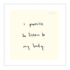 Listen to your body. It's the place you live! #nutrition #inspiration #healthyliving