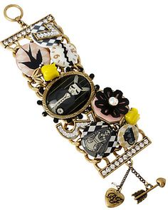 Wonderland Charmed Toggle Bracelet by Betsey Johnson