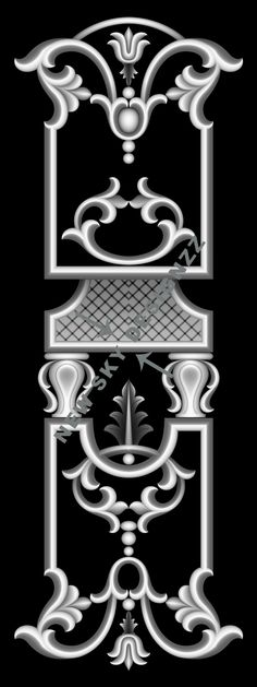 stl File Size :- 9 MB (Autocad view in last blue colour image) Wood Carving Patterns, Carving Designs, Pattern Art, Pattern Design, Alpha Art, Carved Door, Grayscale Image, 3d Panels, Grey Doors