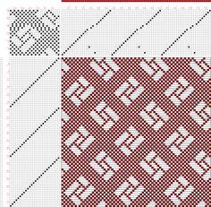 draft image: Figure 687, A Handbook of Weaves by G. H. Oelsner, 24S, 26T