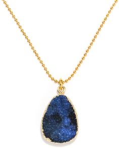 Druzy Ball Chain Pendant
