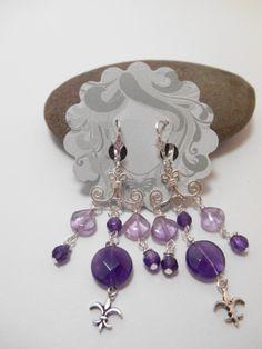 Earrings : Shades of Amethyst Chandelier Earrings