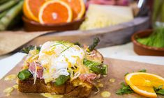 ... Brioche French Toast With Asparagus and Orange Burre Blanc   Hallmark