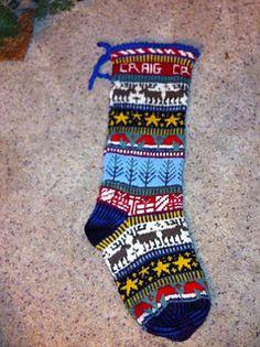 Knitting Patterns Christmas Ravelry: Reindeer Romp Christmas Stocking pattern by Kathleen Taylor Knit Stockings, Knitted Christmas Stockings, Christmas Knitting, Christmas Sweaters, Fair Isle Knitting Patterns, Knitting Charts, Knitting Socks, Christmas Stocking Pattern, How To Purl Knit