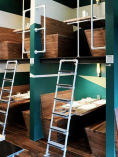 Stacked booths!