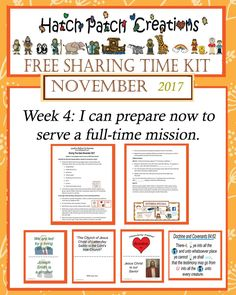 Free sharing time kit: January 2018 weeks 2 3: Heavenly Father's