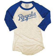 Kansas City Royals women's raglan baseball t-shirt