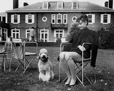 Silver Moyen Poodle with tassels and Audrey Hepburn can you name a movie Hepburn starred??? and possibly an actor who co-starred???