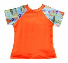 Camiseta manga curta com proteção FPU50+ Ecobabies - Baby Fashion & Fun