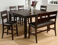 Maldives Counter Height Table W 4 Chairs Dining Room Bench Seatingsquare